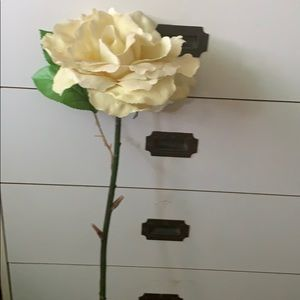Extra large artificial yellow rose stem
